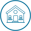 Roofing house icon